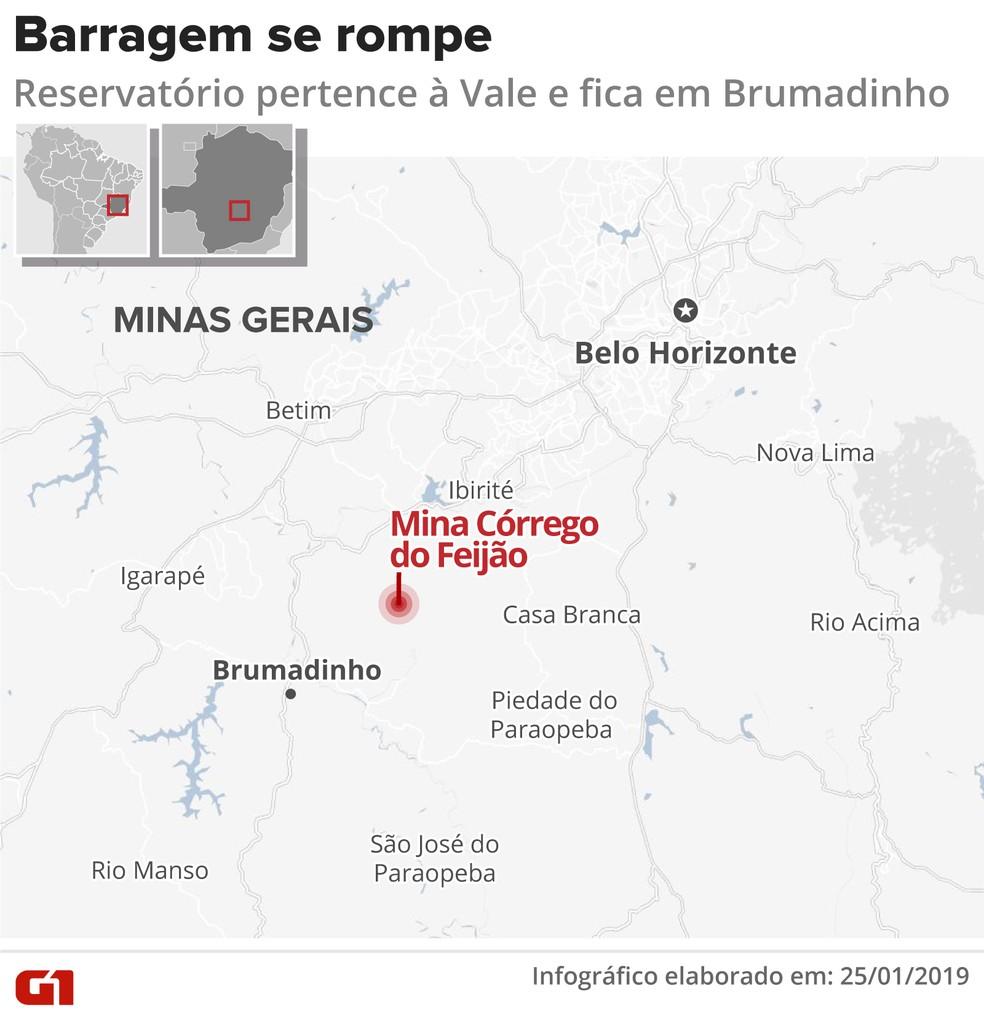 incidente brumadinho v3 - Justiça de MG determina bloqueio de R$ 1 bilhão da Vale após desastre em Brumadinho