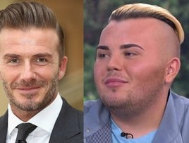 Rapaz gasta R$ 162 mil para ficar parecido com David Beckham (Getty Images e Reprodução)