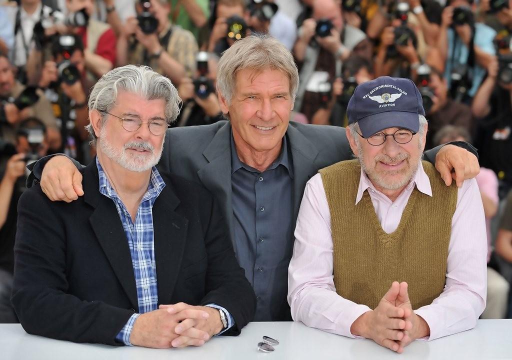 George Lucas com Steven Spielberg e Harrison Ford (Foto: Flickr/raymond twist)