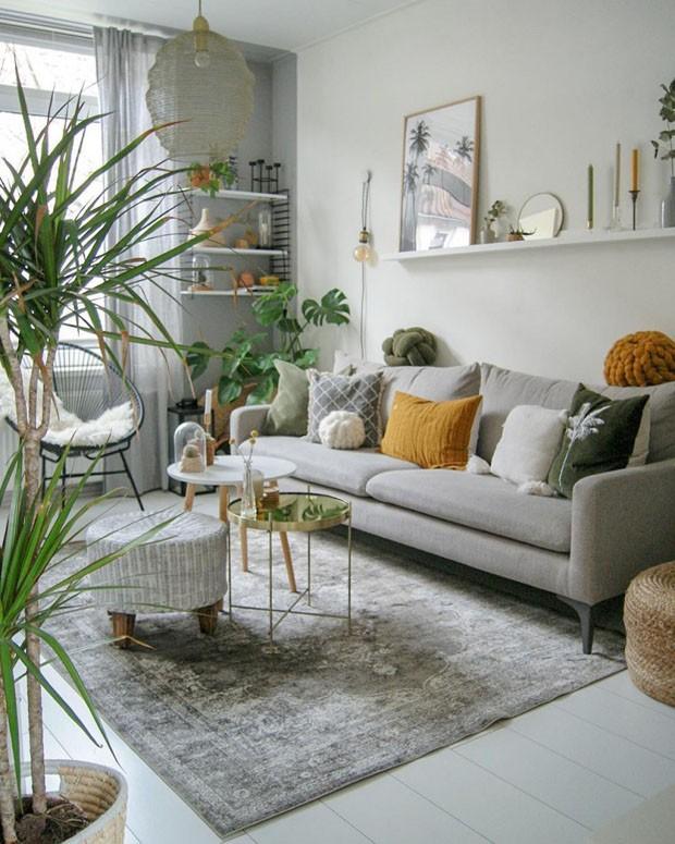 Décor do dia: urban jungle na sala de estar (Foto: Siefs Home / Divulgação)