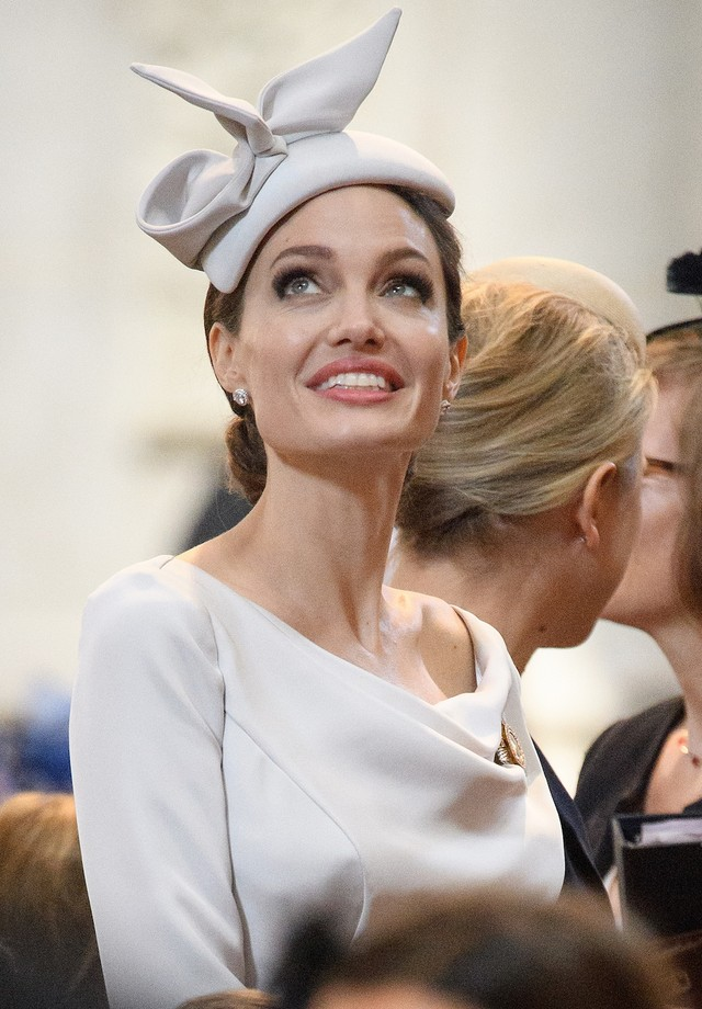 Angelina Jolie em evento na St. Paul's Cathedral, em Londres (Foto: Getty Images)