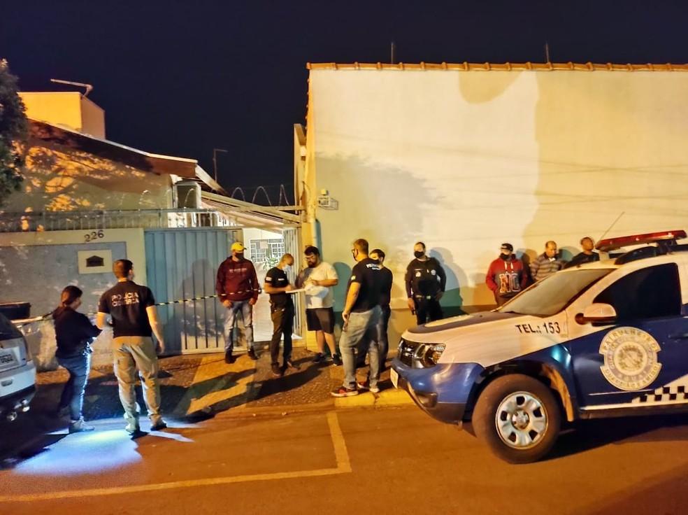 Assalto termina com três mortes em Aguaí — Foto: Sagui Florindo/Gazeta de Aguaí