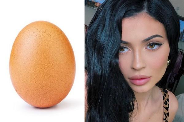 O ovo que bateu o recorde de curtidas de Kylie Jenner nas redes sociais (Foto: Instagram)