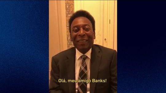 No aniversário de 80 anos de Banks, Pelé grava vídeo e manda parabéns