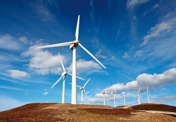 Turbinas para geração de energia eólica (Foto: Dreamstime)