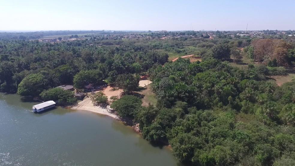 Tremores foram registrados em Porto dos Gaúchos, município localizado às margens do Rio Arinos — Foto: Prefeitura de Porto dos Gaúchos-MT/ Divulgação
