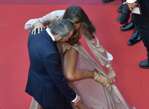 Izabel Goulart at the Cannes film Festival In 2016 (photo: AFP)