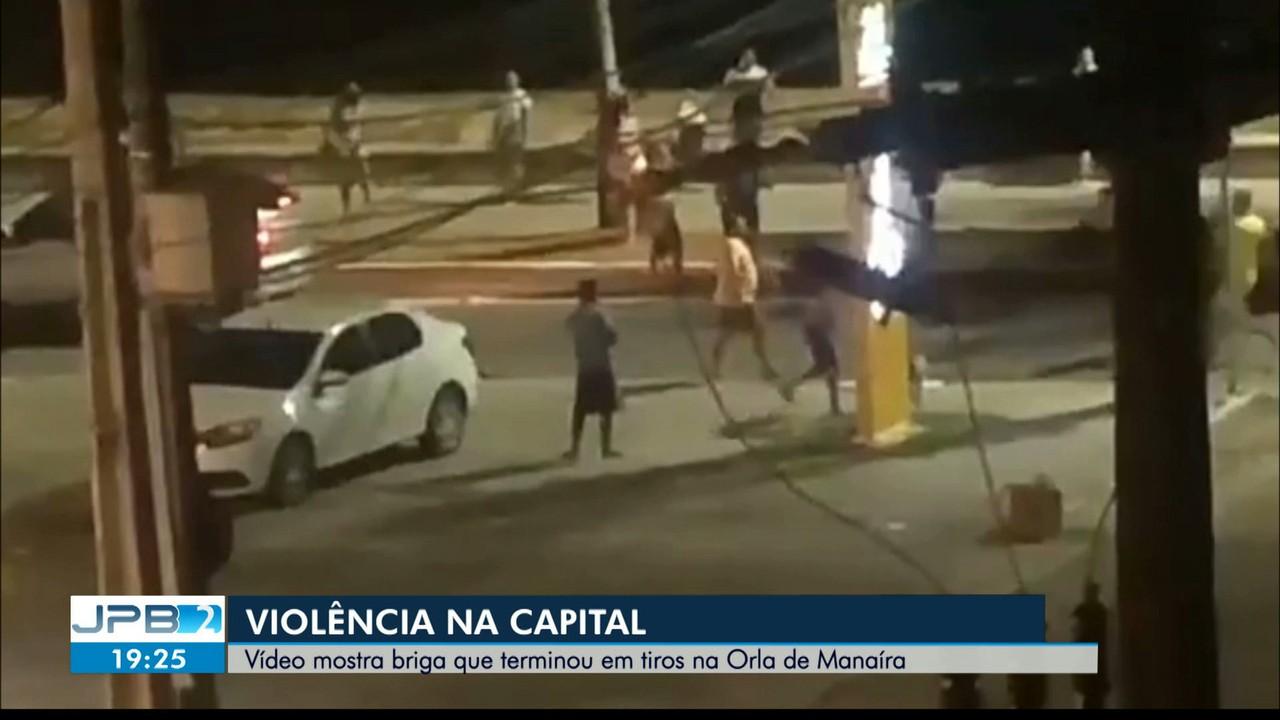 Vídeo mostra briga que terminou em tiros na Orla de Manaíra, em João Pessoa