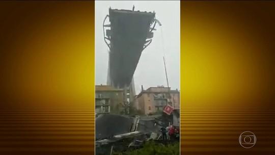 Desabamento de viaduto deixa dezenas de mortos na Itália