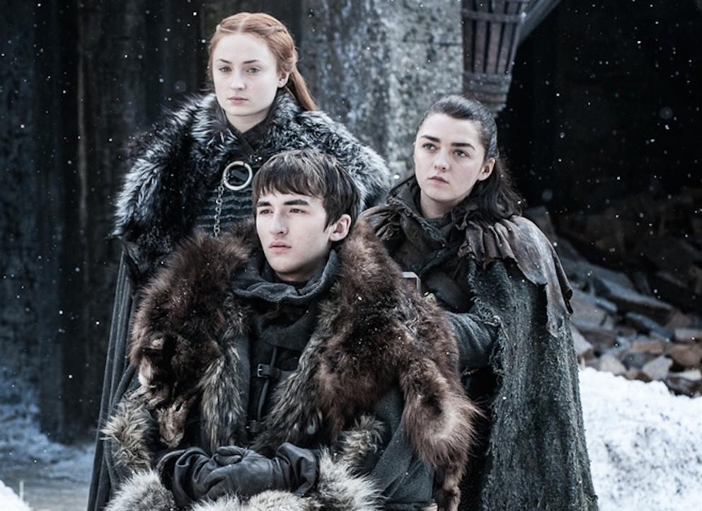Sansa, Arya e Bran reunidos (Foto: Divulgação)