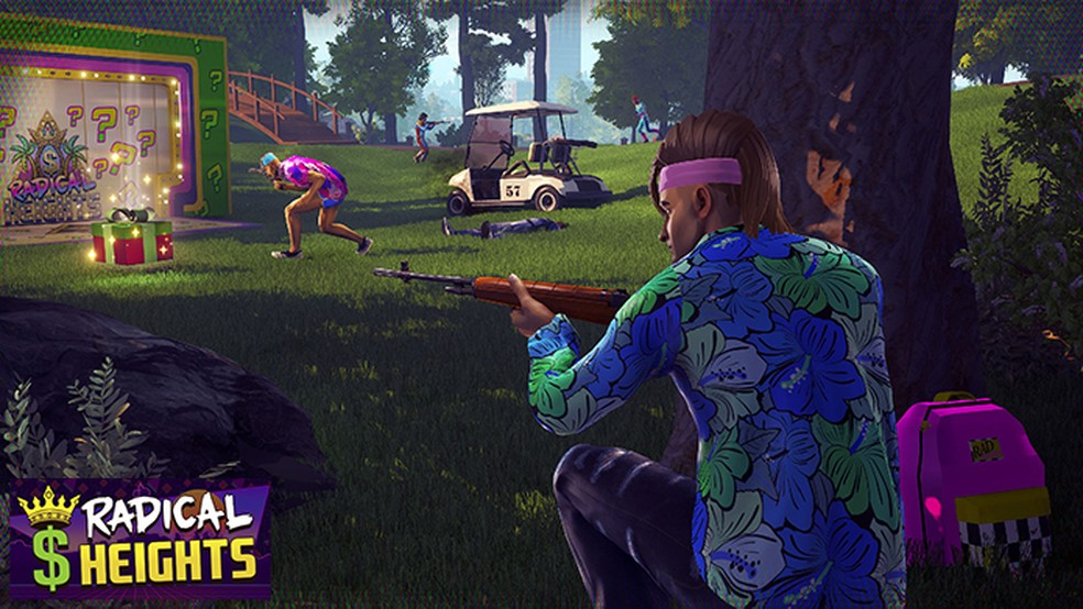 Radical Heights traz o estilo Battle Royale para os anos 80 (Foto: Divulgação/Boss Key Productions)