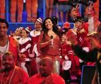 Regina Casé no 'Esquenta!' de Natal   Alex Carvalho/TV Globo