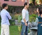 Miriam Freeland e Fernando Pavão em cena de 'Máscaras'   Michel Angelo/Record