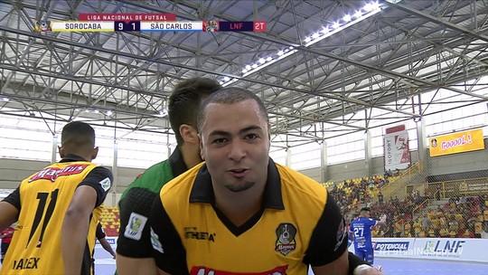 Sorocaba atropela o São Carlos e assume a vice-liderança da Liga Nacional de Futsal