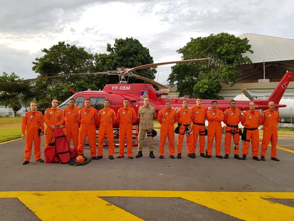 Equipe do Corpo de Bombeiros que foi a Brumadinho — Foto: CBMERJ