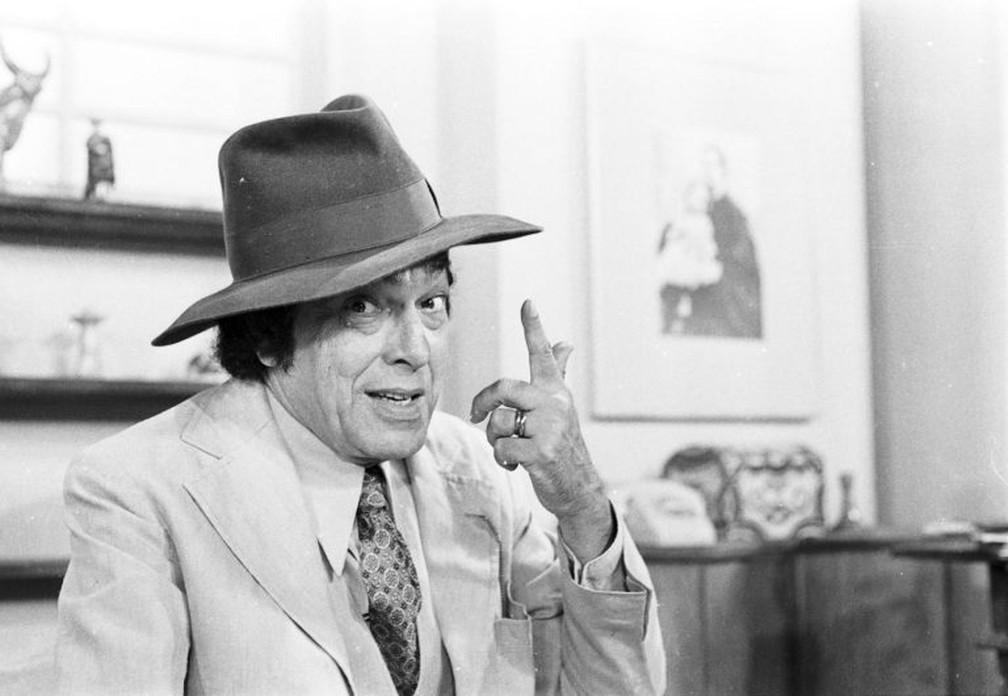Paulo Gracindo em 'O Bem-Amado', de 1973 — Foto: Acervo/Globo