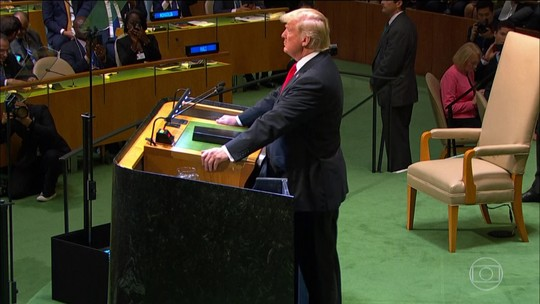 Trump ouve risos na ONU ao elogiar a própria administração: 'Não esperava essa reação'