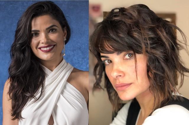 Vanessa Giácomo antes e depois de mudar o visual (Foto: Divulgação)