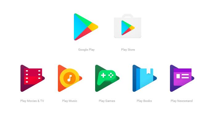 Novo design dos ícones da Google Play quer mostrar relação entre aplicativos (Foto: Reprodução/Google)