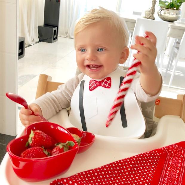 Enrico Bacchi, filho de Karina Bacchi (Foto: Reprodução)