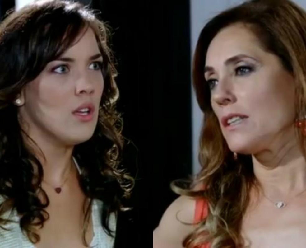 Tereza Cristina amaldiçoa gravidez de Patrícia 'Rezando para que você perca esse maldito filho' — Foto: Globo