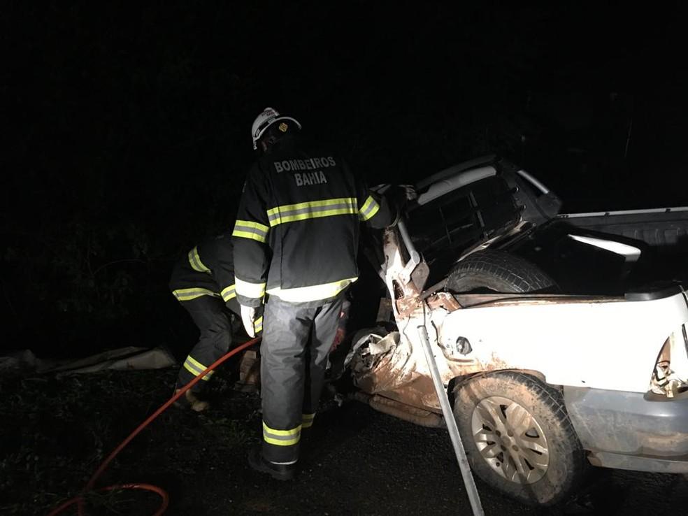 Acidente aconteceu na BR-242, no trecho de Brejinhos — Foto: Gazeta 5