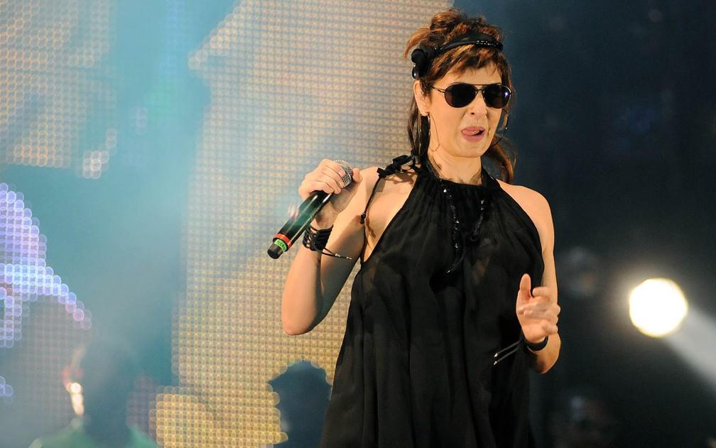 A cantora defende a pluralidade de estilos do Rock in Rio (Foto: Alexandre Durão/G1)