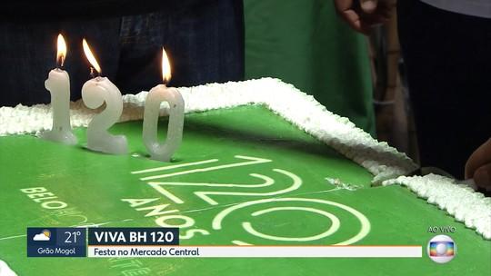 Bolo dos 120 anos de Belo Horizonte marca comemorações