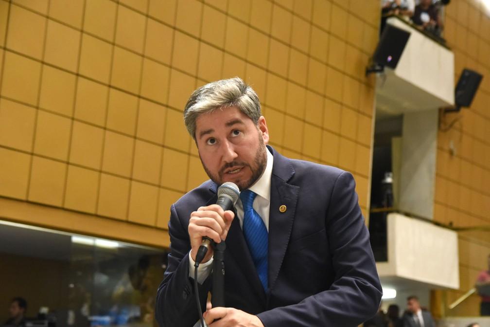 O deputado estadual Fernando Cury, no plenário da Assembleia Legislativa de SP (Alesp) — Foto: Divulgação/Agência Alesp