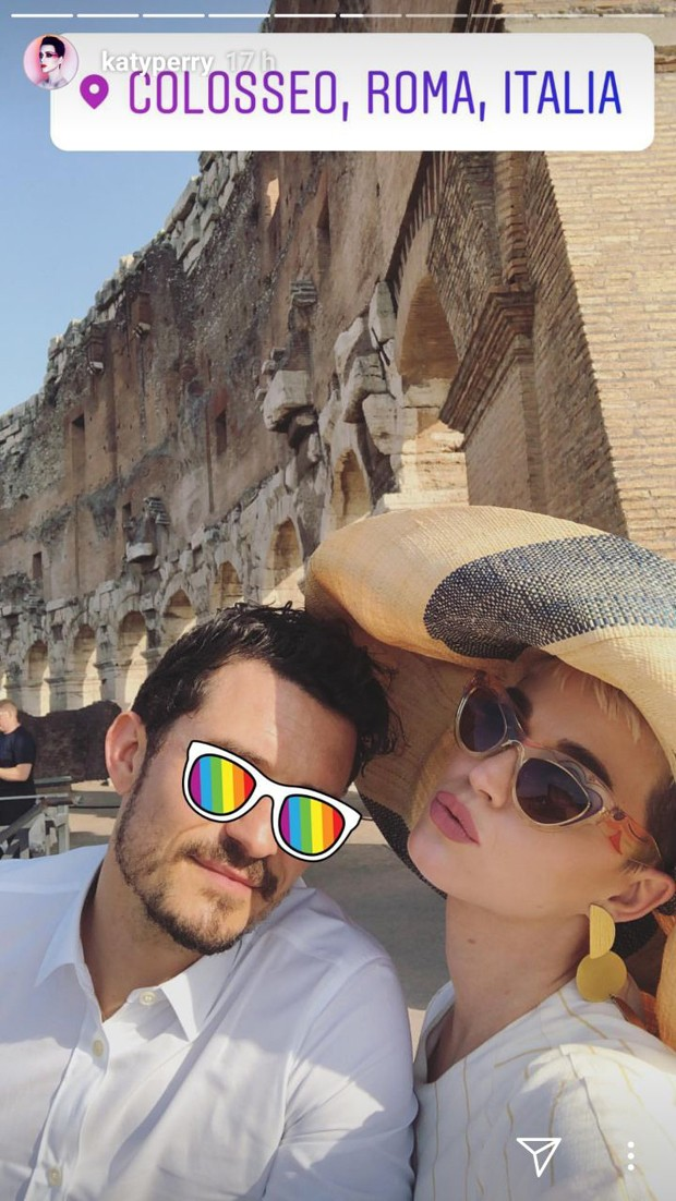 Katy Perry e Orlando Bloom na Itália (Foto: reprodução / instagram)