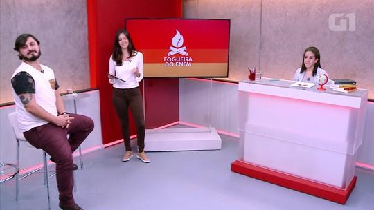'Fogueira do Enem': estudante é desafiado com questões de português do app G1 Enem