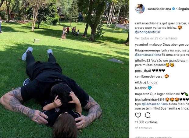 Rodrigo e o filho (Foto: Reprodução Instagram)