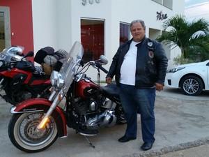 Aloísio pretende percorrer pelas estradas dos Estados do Sul e países vizinhos (Foto: Aloísio Vieira/Arquivo Pessoal)