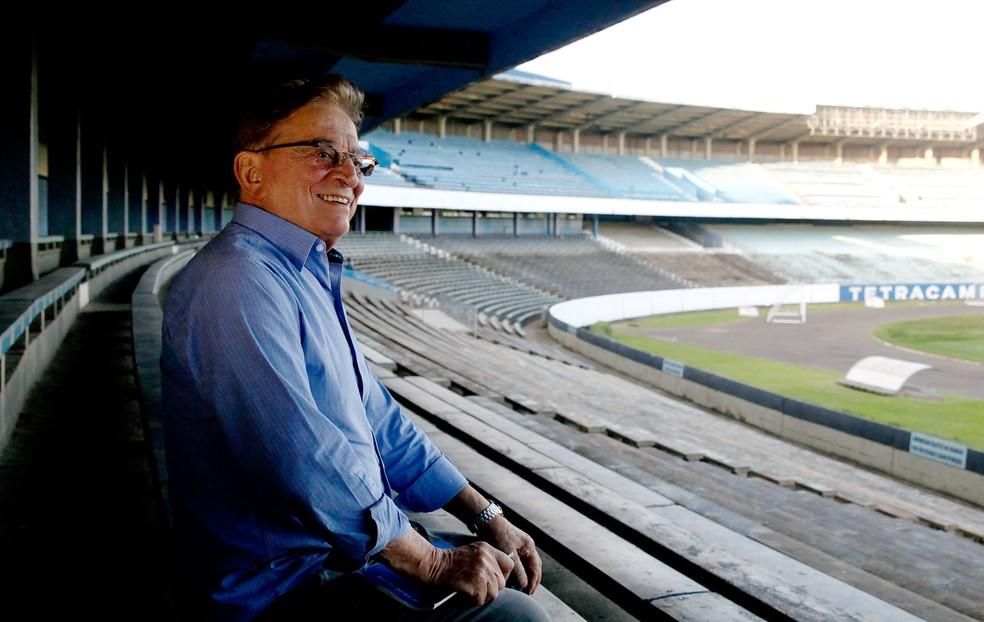 Fábio Koff visita o estádio Olímpico, onde viveu suas maiores emoções (Foto: Wesley Santos / Agência PressDigital)