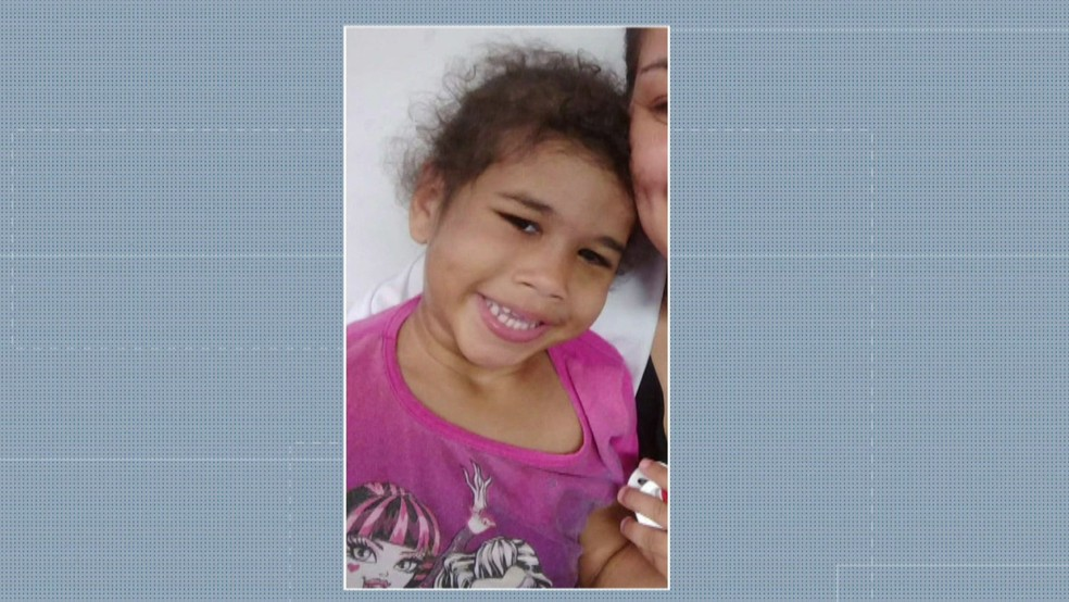 Micaelly morreu vítima de espancamento — Foto: Reprodução/TV Globo