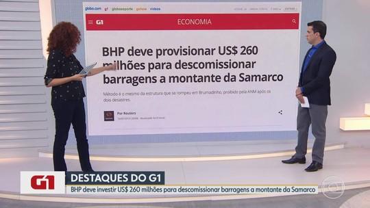 G1 no BDMG: BHP anuncia US$ 260 mi para descomissionar barragens a montante da Samarco