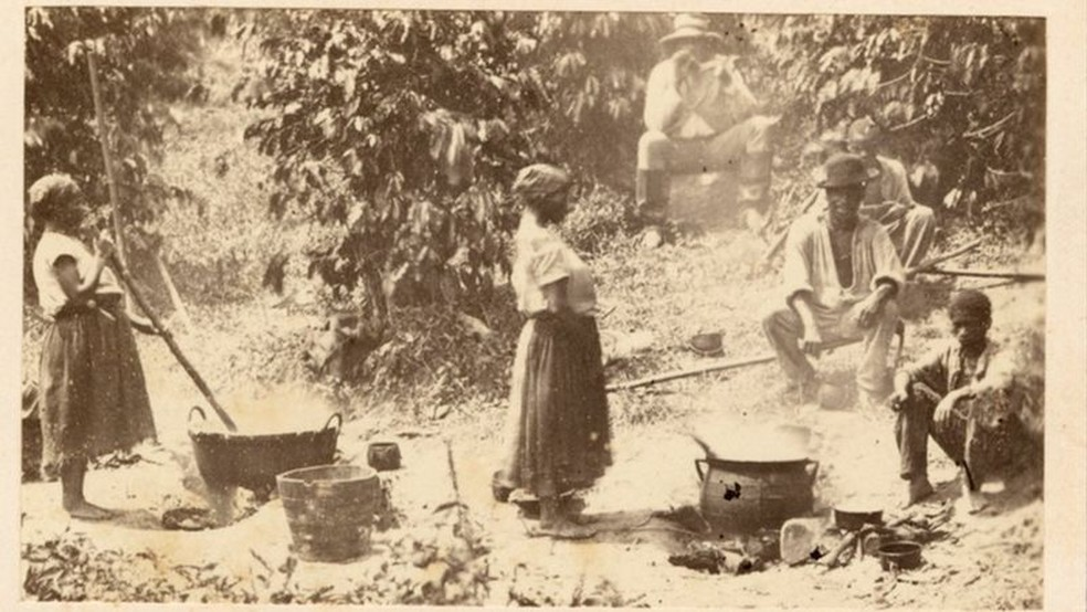 Nas fazendas, grávidas às vezes não conseguiam chegar a tempo à senzala — Foto: The New York Public Library