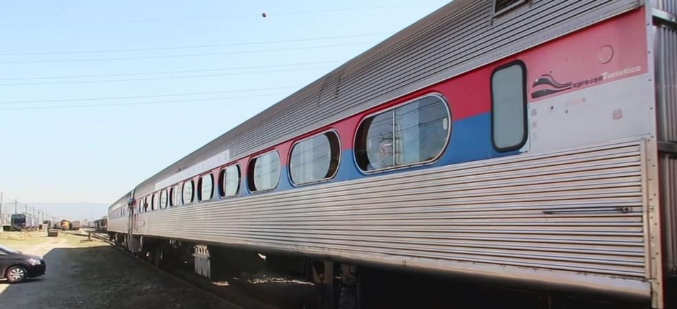 Trem de passageiros entre Santos e São Paulo faz segunda viagem de teste. Foto: Reprodução/TV Tribuna