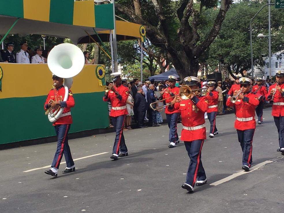 Desfile do 7 de setembro em Salvador — Foto: João Souza/ G1