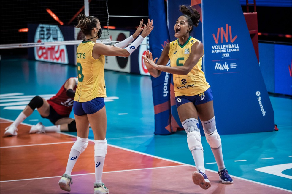 Brasil e Coreia do Sul pela Liga das Nações — Foto: Divulgação
