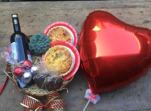 O Start Arte entregará um kit especial de doces com um balão de coração para o Dia dos Namorados (Foto: Divulgação)