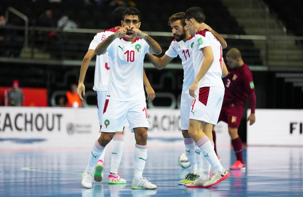 El Mesrar é o grande destaque da seleção do Marrocos  — Foto: Angel Martinez/Getty Images