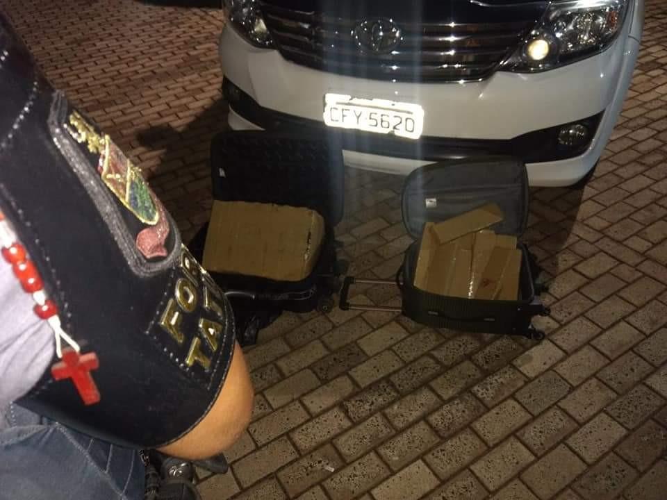 Drogas são apreendidas dentro de malas em carro após motorista se assustar com policiais - Noticias