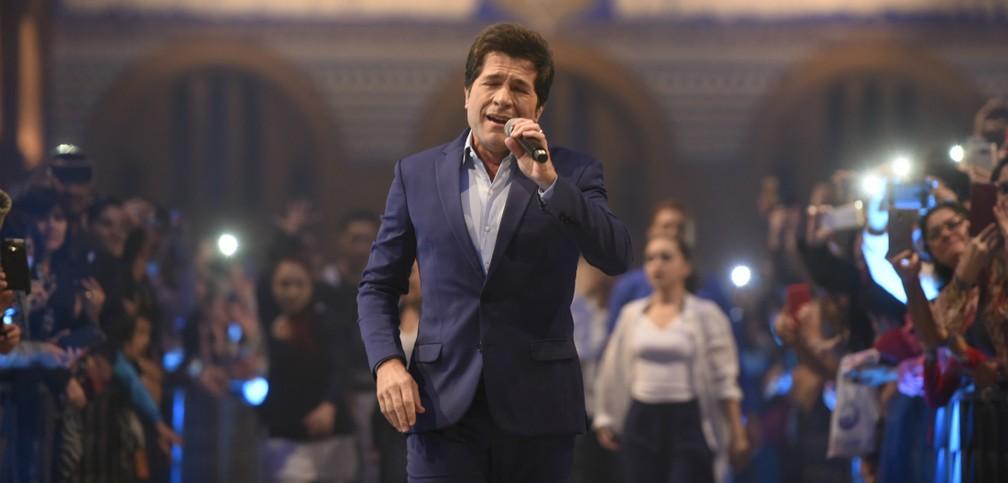 Cantor Daniel faz show na Basílica de Aparecida — Foto: Thiago Leon/ Santuário Nacional de Aparecida