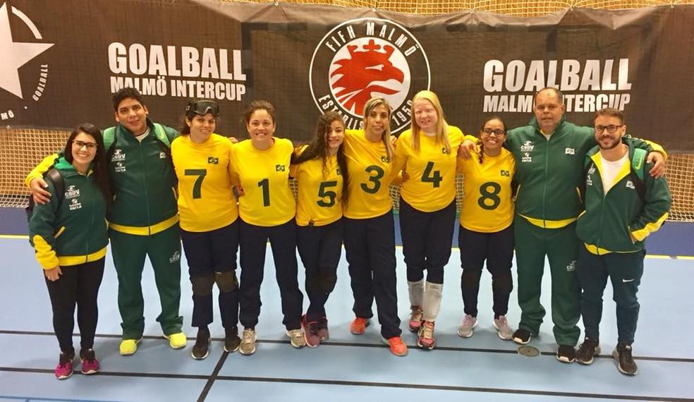 Seleção feminina terminou a Malmö Intercup em quarto lugar  (Foto: Divulgação/CBDV)