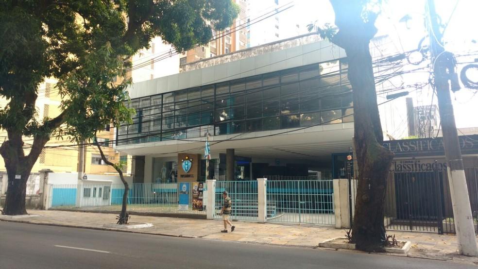 Sede social do Paysandu deve ser o local de encontro dos ex-presidentes do clube com o atual, o que não foi confirmado pelo atual mandatário — Foto: Pedro Cruz/GloboEsporte.com