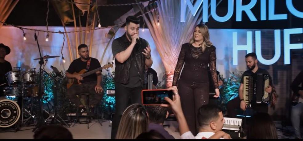 """Marília Mendonça e Murilo Huff fazem dueto em """"Dois enganados""""  — Foto: Reprodução/Instagram"""
