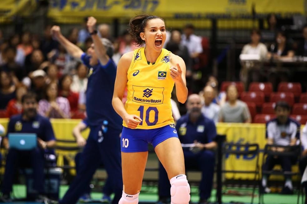 A garra de Gabi também fez a diferença no time comandado por Zé Roberto (Foto: FIVB / Divulgação)