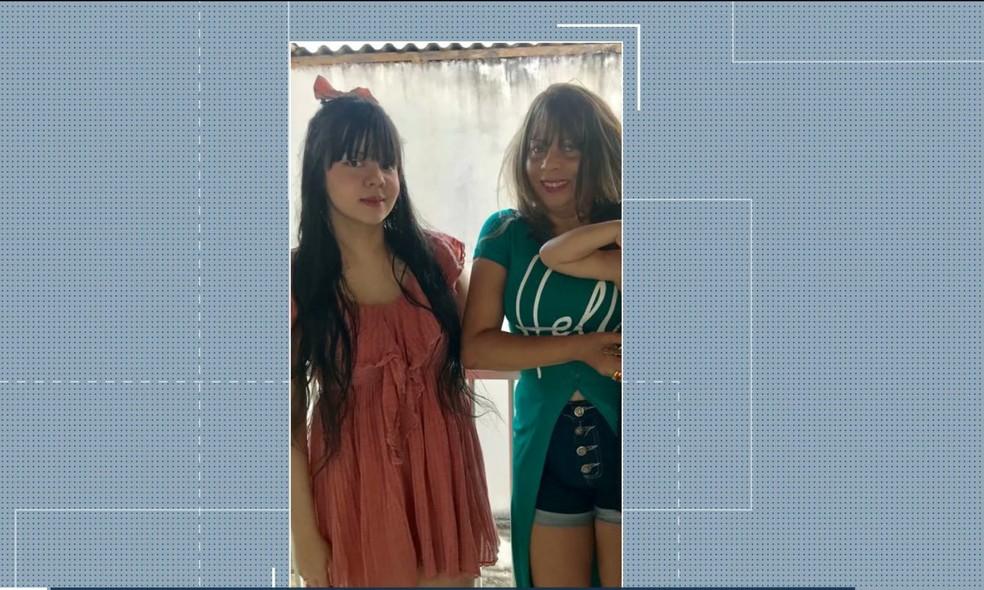 Graça e Talita foram encontradas mortas dentro de um carro da família, no início do mês. — Foto: Foto: Reprodução/TV Mirante.