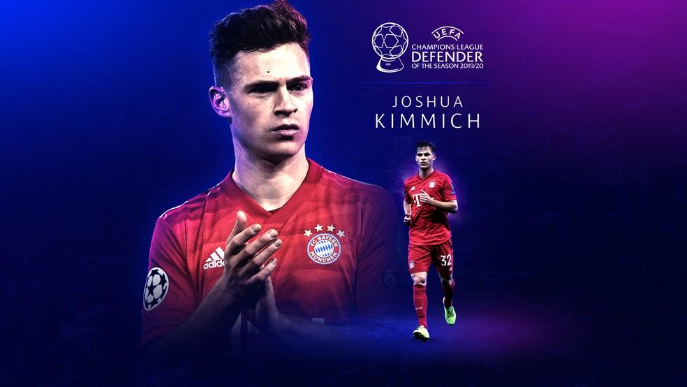 Kimmich é eleito o melhor defensor da Champions League 2019/20 — Foto: Reprodução / Twitter